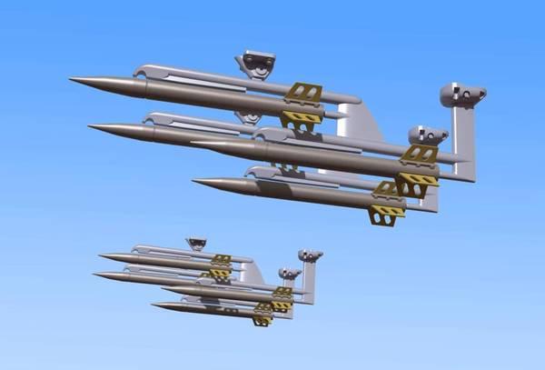 1/32 Skala Oerlikon Raketter (med rakettkastere)