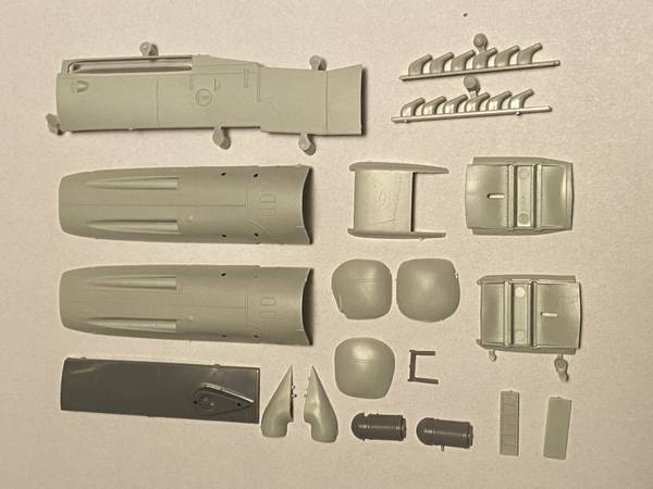 Bf 109G-6 cowling parts